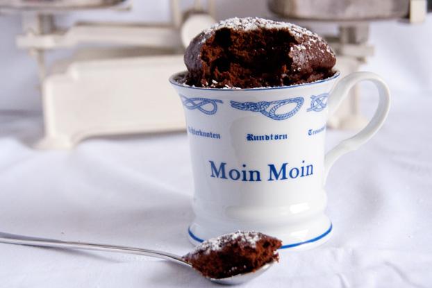 Schokoladiger Mikrowellenkuchen Vanillakitchen